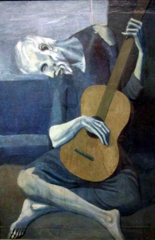"""El viejo guitarrista"" (Pablo Picasso, 1903)"